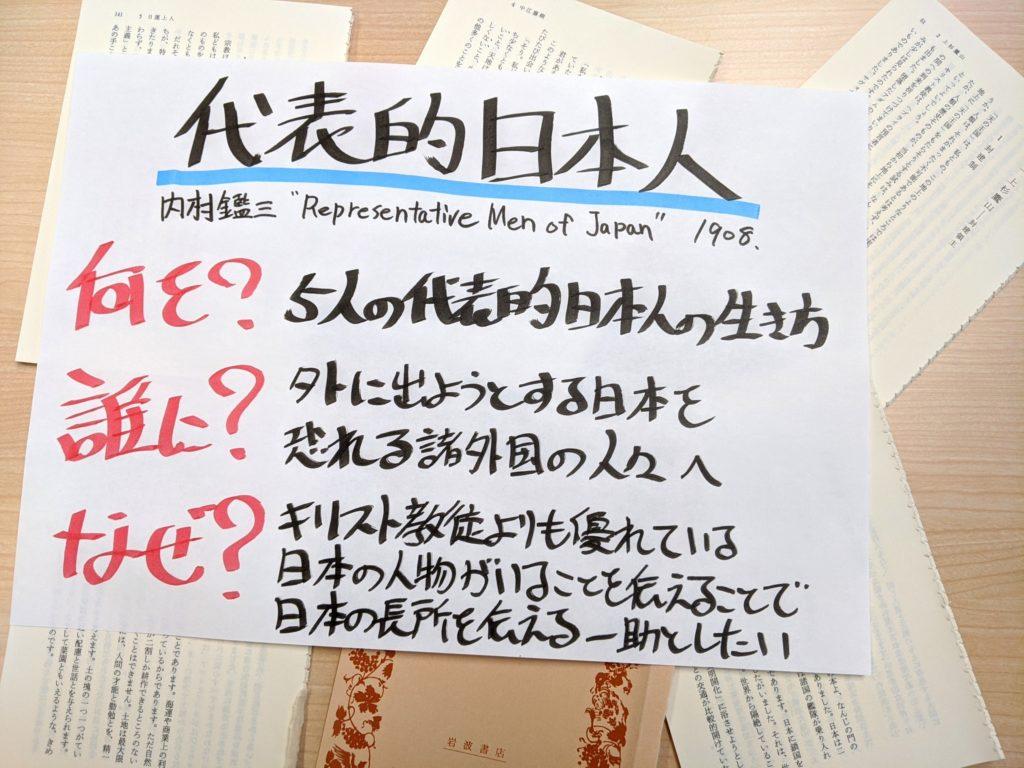 代表的日本人の概要